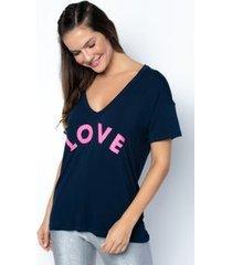 camiseta fitness spicy-marinho/silk love torto