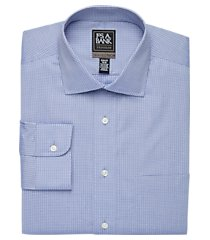 travel tech collection slim fit spread collar grid shirt clearance, by jos. a. bank