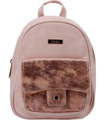 mochila circón rosa lilás carteras
