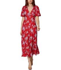 betsey johnson floral maxi dress