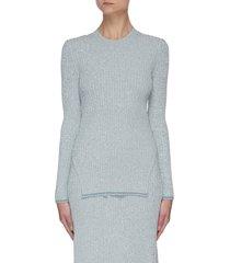 'mouline' rib-knit sweater