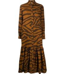 mara hoffman freda animal-print beach dress - brown