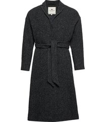 alice wool coat wollen jas lange jas zwart lexington clothing