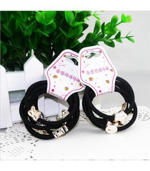 10 pezzi carino lega piccolo pendente decorativo capelli banda ragazze capelli anello