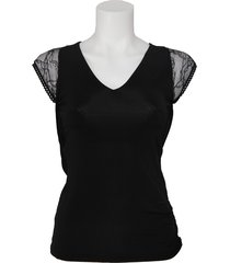amy gee top - kant - zwart / black