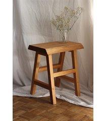 dębowa ławka , stolik kawowy