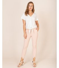 pantalón skinny con aberturas