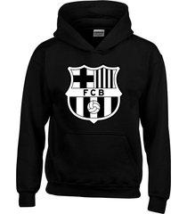 buzo chaqueta barcelona fc - negro