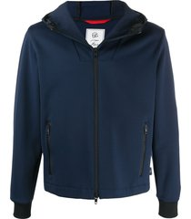 fay technical track hoodie - blue