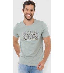camiseta jack & jones milieu verde - verde - masculino - dafiti