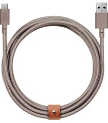 belt extra long usb-a to usb-c charging cable - taupe