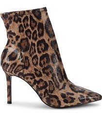 venus leopard-print booties