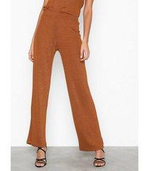 nly trend desert wide pants byxor