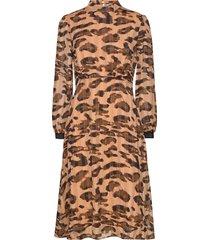 belinda dress below knee knälång klänning brun saint tropez