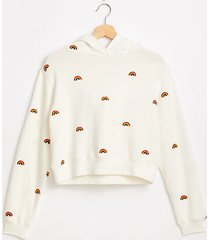 lou & grey rainbow embroidered hoodie