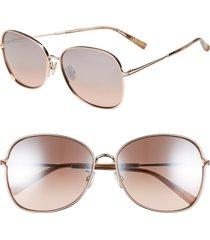 women's max mara 60mm aviator sunglasses -