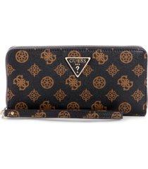 guess sandrine large zip around wallet wristlet