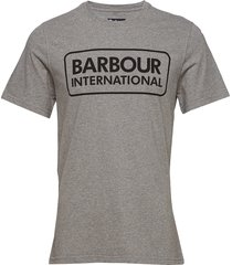 b.intl essential large logo tee t-shirts short-sleeved grå barbour