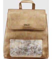 mochila urbana karol dorado lilas carteras