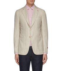 'cortina' notch lapel wool blend blazer