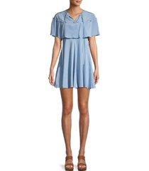redvalentino women's silk mini dress - delphinium - size 38 (6)