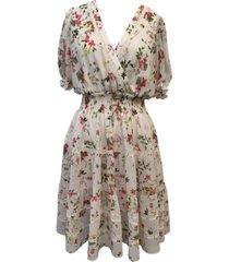taylor smocked-waist chiffon dress