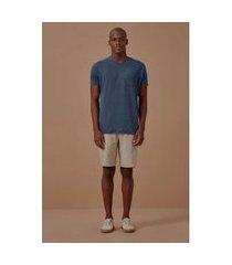 t-shirt indigo classica azul claro - xg