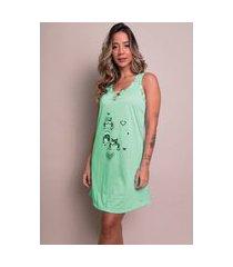 camisola feminina malha serra e mar modas estampada nathália verde água
