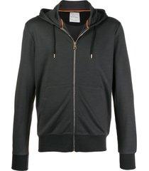 paul smith zipped short hoodie - grey