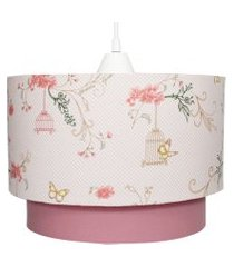 lustre tubular duplo jardim rosê quarto bebê infantil menina rosa potinho de mel