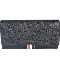thom browne mid-stripe logo detail continental wallet