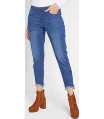 push up stretch jeans met comfortband, slim fit, low waist
