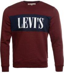 levi's men's crewneck colorblock pullover fleece