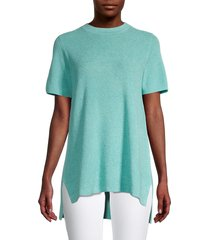 eileen fisher women's high-low knit top - blue - size m