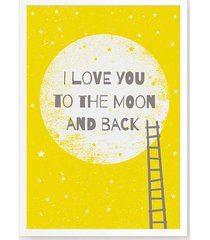 i love you to the moon and back iii plakat b2