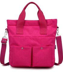 borsa da donna per il tempo libero in nylon impermeabile con grande capacità a tracolla