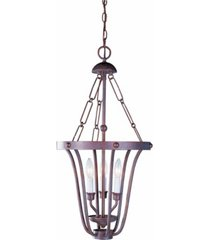 volume lighting minster 3-light candle-style cage hanging mini chandelier pendant