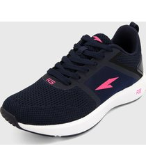 tenis lifestyle azul oscuro-rosa rs21