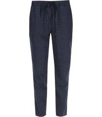 pantalon mujer a rayas color azul, talla 14