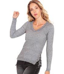 sweater wados jasp gris - calce ajustado