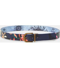 reversible belt flowers - blue - 95