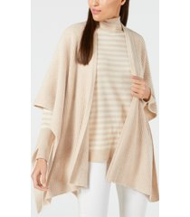 calvin klein cashmere textured sweater cape