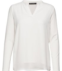 shirt long 1/1 sleeve blus långärmad vit betty barclay