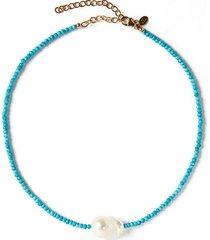 baroque pearl gemstone necklace