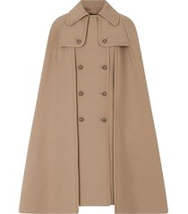 dolce & gabbana double-breasted cape coat - neutrals