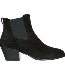 stivaletti stivali donna con tacco camoscio h401