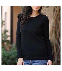 100% alpaca sweater, 'ebony charm' (peru)