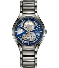 men's rado true automatic open heart bracelet watch, 40mm