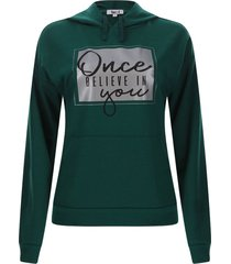 buzo mujer once color verde, talla m