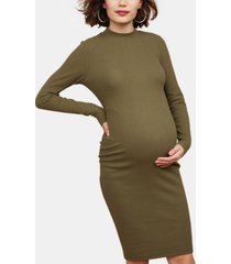motherhood maternity ruched sheath dress